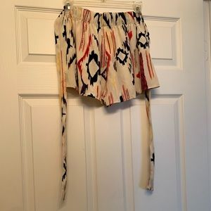 Silk like material shorts